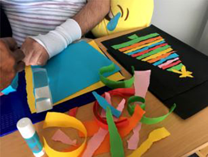 Christmas Card making for rehabilitation therapy
